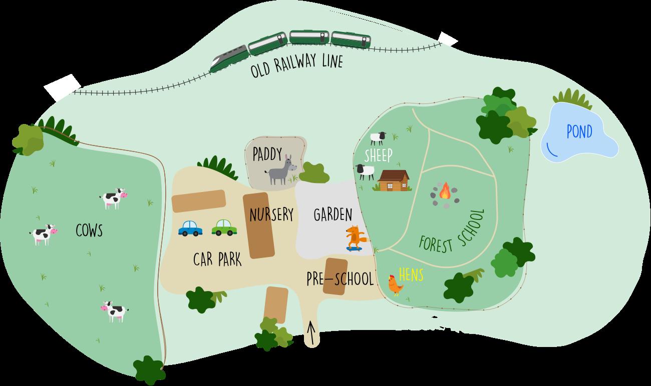 Map of Bradley Barns Nursery